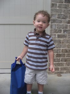 D's first day of school